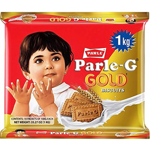 Parle-G Gold Biscuits, 1 KG (10 pack of 100g)