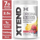 Image of Xtend Original Bcaa Powder Knockout Fruit Punch, Sugar Free Post Workout Muscle Recovery Drink With