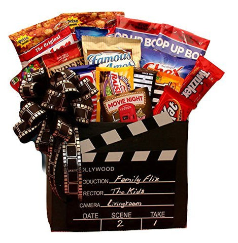Movie Time! Gourmet Snack Gift Basket with Red Box Movie Rentals