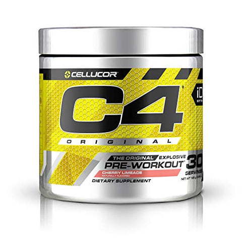Cellucor C4 Original Pre Workout Powder Cherry Limeade | Sugar Free Preworkout Energy Supplement for Men & Women | 150mg Caffeine + Beta Alanine + Creatine | 30 Servings