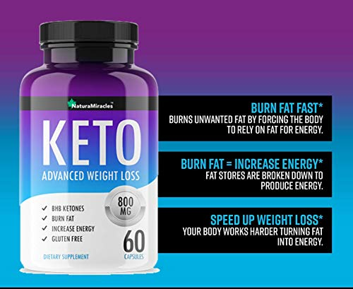 "Keto Diet Advanced By Natura Miracles/Qflã¢â""⢠ 800 Mg   120 Capsules   60 Days Supply (2 Bottles)"