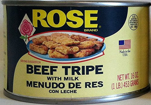 Rose Beef Tripe with Milk in a 1 Lb. Can., 2 (One Lb Cans)