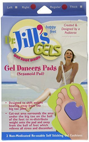 Dr. Jill's Gel Dancer's Pads (Right Foot) by Dr. Jill's Foot Pads