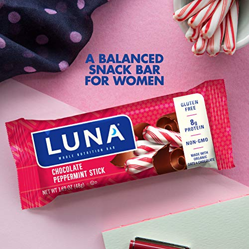 Luna Bar   Gluten Free Bars   Chocolate Peppermint Stick   (1.69 Ounce Snack Bars, 15 Count)(Packagi