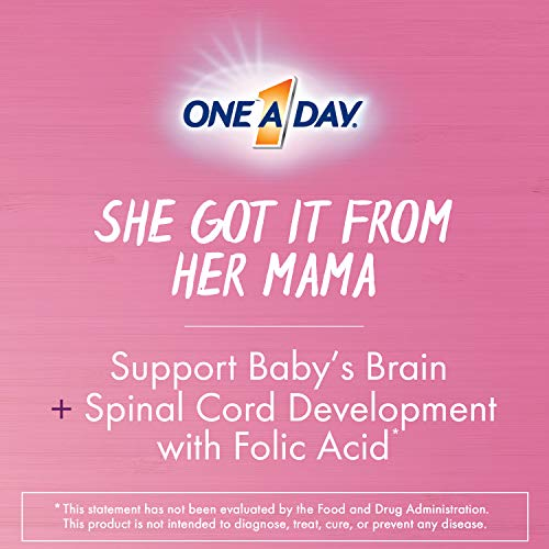 One A Day Women's Prenatal Multivitamin Two Pill Formula, Supplement for Before, During, and Post Pregnancy, Including Vitamins A, C, D, E, B6, B12, Folic Acid, and Omega-3 DHA, 30+30 Count
