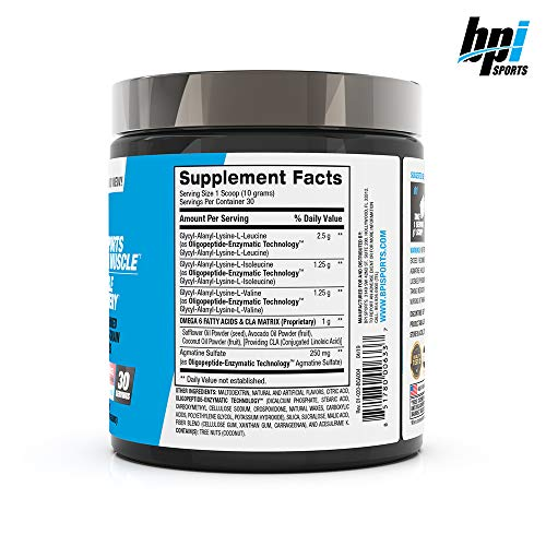 BPI Sports Best BCAA - BCAA Powder - Branched Chain Amino Acids - Muscle Recovery - Muscle Protein Synthesis - Lean Muscle - Improved Performance - Hydration - Watermelon Ice - 30 Servings - 10.58 oz.