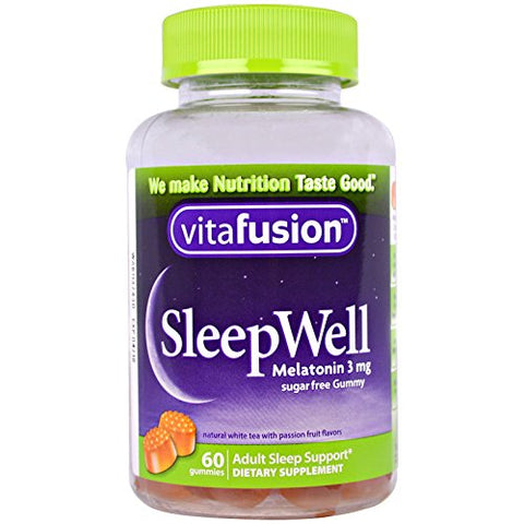 Vitafusion SleepWell Gummy Sleep Aid for Adults, White Tea & Passion Fruit 60 ea by Vitafusion