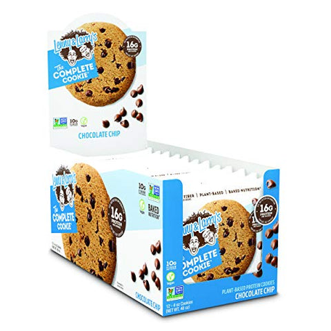 Lenny & Larry's The Complete Cookie, Chocolate Chip, 4 Oz (Pack Of 12) Soft Baked