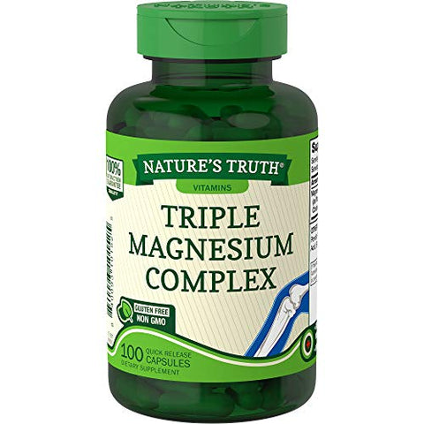 Nature's Truth 400 mg Magnesium Triple Complex Supplement, 100 Count