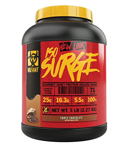 Mutant ISO Surge Whey Protein Powder Acts FAST to Help Recover, Build Muscle, Bulk and Strength, Uses Only High Quality Ingredients, 5 lb - Triple Chocolate
