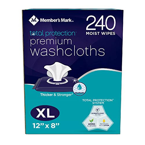 Member's Mark Adult Washcloths (240 ct.) pack of 2