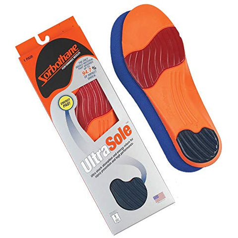 Sorbothane Ultra Sole Insole W 13, M 11-12 (Metric 44-45) - F