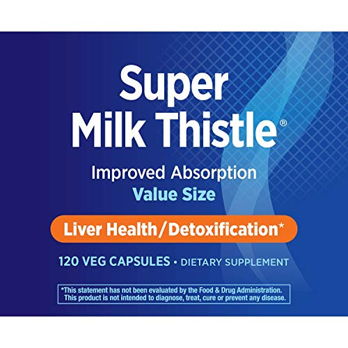 Nature's Way Super Milk Thistle Improved Absorption Liver Health/Detoxification, 120 VCaps