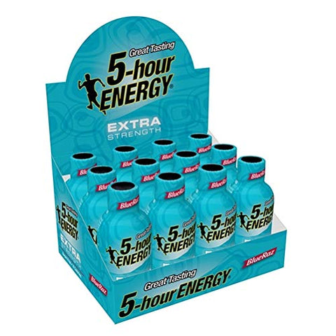 Sport Nutrition Energy Shots (12-Pack, Extra Strength Blue Raspberry)