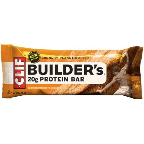 Builders Crunchy Peanut Butter Protein Snack Bar, 2.4 Ounce -- 36 per case.