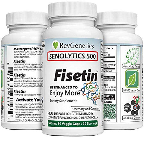 SENOLYTICS 500: Fisetin 500 mg