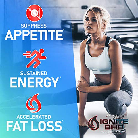 Ignite BHB + Caffeine Premium Endurance Formula for Increased Muscle Growth, Recovery, and Energy | Award Winning Taste | Rocket Pop | 20 Servings
