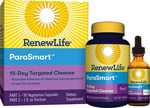 Renew Life Adult Cleanse   Para Smart, Microbial Cleanse   2 Part,15 Day Program   Gluten, Dairy & So