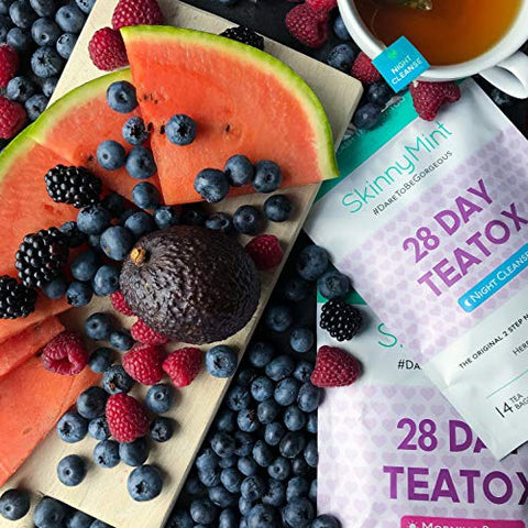SkinnyMint 28 Day Ultimate Teatox Detox Tea (42 Tea Bags). All Natural Cleanse for Weight Loss. Great Tasting Tea- Boosts Energy and Reduces Bloating