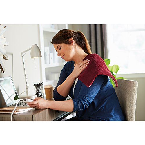 Sunbeam 002014-915-000 Xpressheat Heating Pad, Garnet Red, 12 x 15 inches