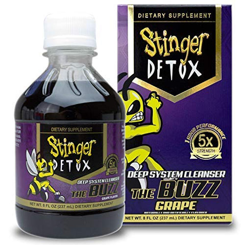 Stinger Detox Buzz 5 X Extra Strength Drink   Grape Flavor   8 Fl Oz