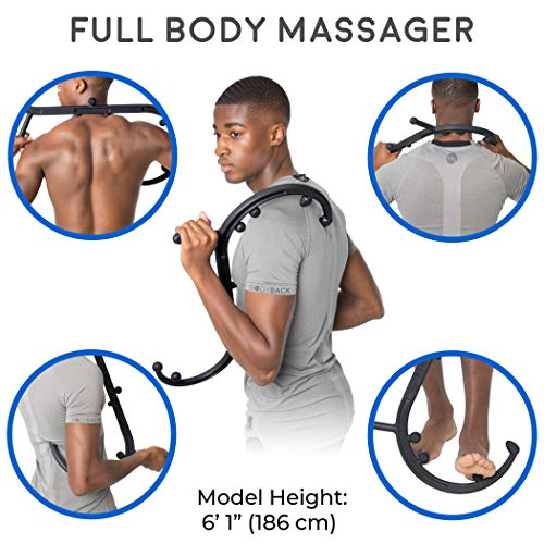 Body Back Buddy Trigger Point Back Massager   11 Knobs, 3 Shapes, Full Body Muscle Pain Relief   Han
