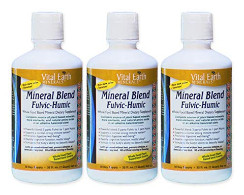 Vital Earth Minerals Fulvic-Humic Mineral Blend - 32 fl oz ( 3 Pack )