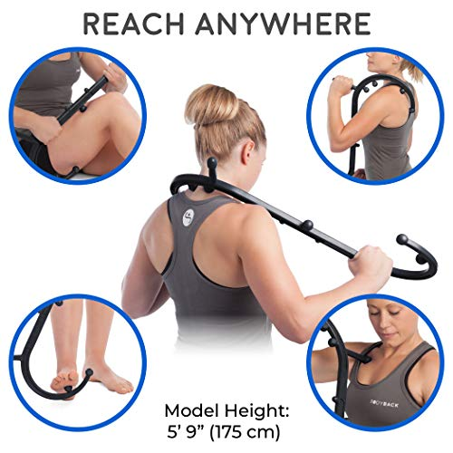 Body Back Buddy Trigger Point Back Massager, Full Body Muscle Pain Relief, Handheld Massage Stick, M
