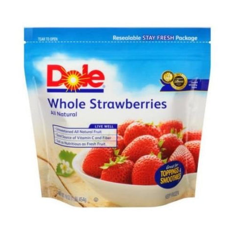 Dole Whole Strawberries, 16 Ounce -- 8 per case.