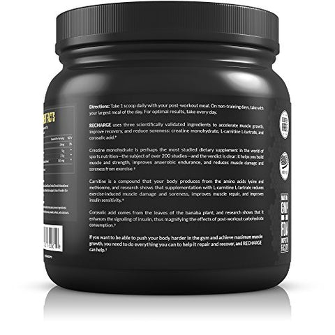 Legion Recharge Post Workout Supplement   All Natural Muscle Builder & Recovery Drink With Creatine