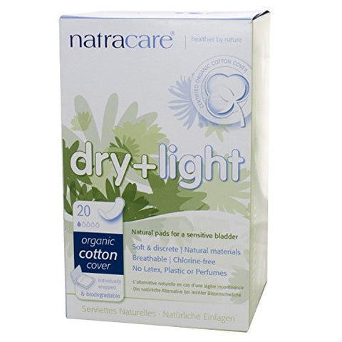 Natracare Pads Dry&Light Incontince 20 Ct