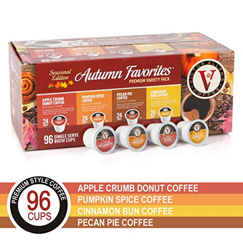 Autumn Favorites Variety Pack for K-Cup Keurig 2.0 Brewers, 96 Count, Victor Allen's Coffee Single Serve Coffee Pods