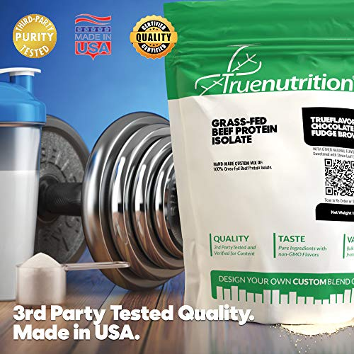 True Nutrition Grass Fed Beef Protein Powder Isolate - 29g of Paleo, Keto, Carnivore Beef Protein per Serving - Zero Carb, Fat Free, Gluten Free, Dairy Free, Soy Free - French Vanilla - 1LB