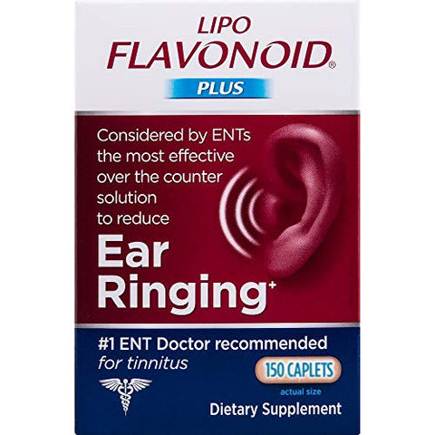 Lipo-Flavonoid Plus Ear Health Supplement, Lemon, 150 Count
