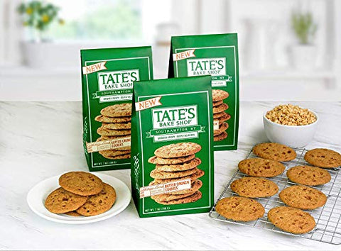 Tate's Shop New Crafted Baked Butter Crunch Cookies 7oz (3 Pack)
