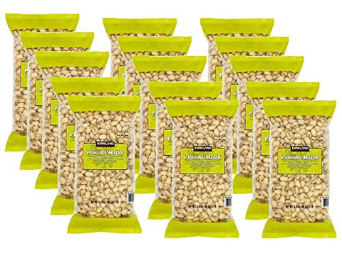 Kirkland Signature California In-Shell Salted Pistachios, 48 oz.(Pack of 15)