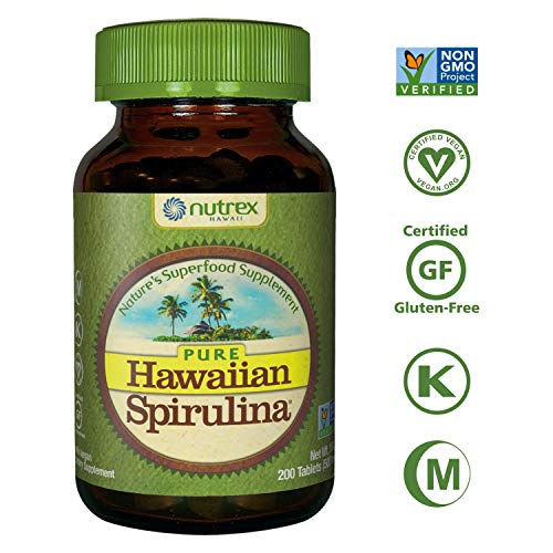 Pure Hawaiian Spirulina-500 mg Tablets 200 Count - Natural Premium Spirulina from Hawaii - Vegan, Non-GMO, Non-Irradiated - Superfood Supplement & Natural Multivitamin