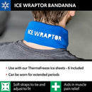 "Image of Blue Ice Wraptor Bandana, Keep Your Neck, Head, and Joints Cool, One Size Fits All, Fits Ice Packs up to 2.5"" x 15"", Includes 1 ThemaFreeze Insert (6 x 1 Cell: 2.5"" x 15"")"
