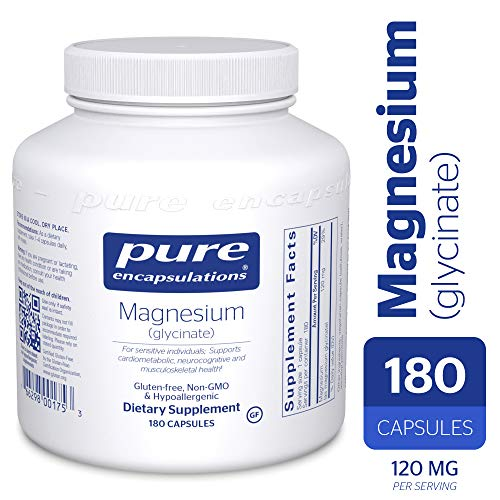 Pure Encapsulations - Magnesium (Glycinate) - Supports Enzymatic and Physiological Functions* - 180 Count