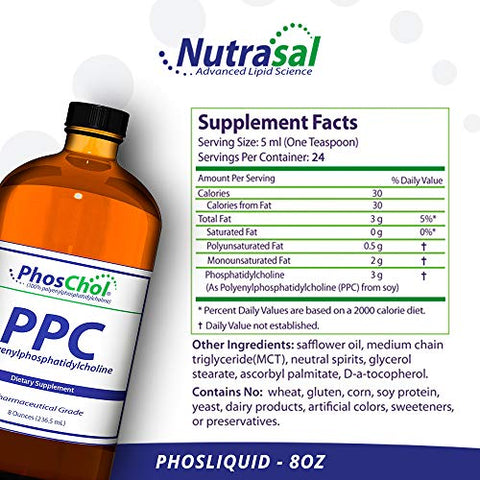 "Nutrasal Phos Chol Liquid Concentrate, 3000mg ã¢â€â"" 8 Oz."