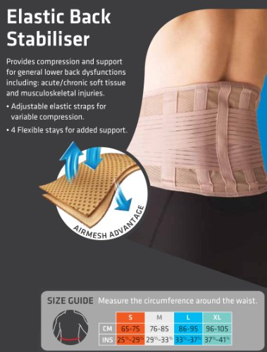 Thermoskin Elastic Back Stabilizer, Beige, X-Large