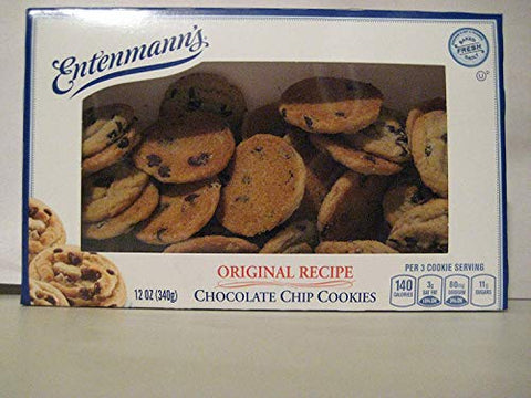 Entenmann's Cakes Traditional Bundle: All Butter Loaf Cake, Original Recipe Chocolate Chip Cookies, Soft'ees 12 Assorted Donuts, Rich Frosted Chocolate Donuts Bundle!