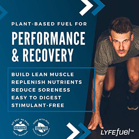 Post Workout Recovery Shake By Lyfe Fuel | All In One Sports Nutrition Drink For Rapid Muscle Replen
