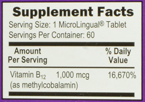 Superior Source No Shot Vitamin B12 Methylcobalamin 1000 mcg Sublingual Tablets - Methyl B12 Supplement To Increase Energy - Instant Dissolve Under the Tongue 60 Count