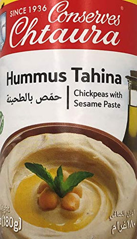 Chtaura Hummus Tahina, Tahini Chickpeas with Sesame Paste Dip in Tin 6 oz, 180 g