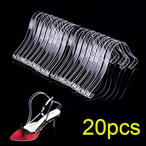 20Pcs/10 Pair Acrylic Sandal Shoe Store Shoe Retail Shop Display Stand Shoe Supports Shaper Forms Inserts,Clear