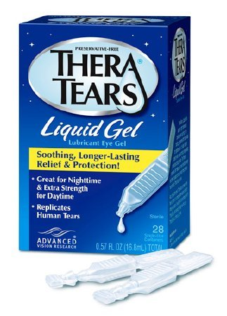 Thera Tears Liquid Gel Nighttime Dry Eye Therapy, 30 Single-Use Vials