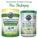 Image of Garden of Life Raw Organic Perfect Food Green Superfood Juiced Greens Powder - Original Stevia-Free, 60 Servings (Packaging May Vary) - Non-GMO, Gluten Free, Vegan Whole Food Dietary Supplement