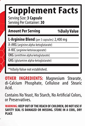 Nitric oxide l arginine - NITRIC OXIDE L-ARGININE 2400MG - increase sports performance (1 Bottle)