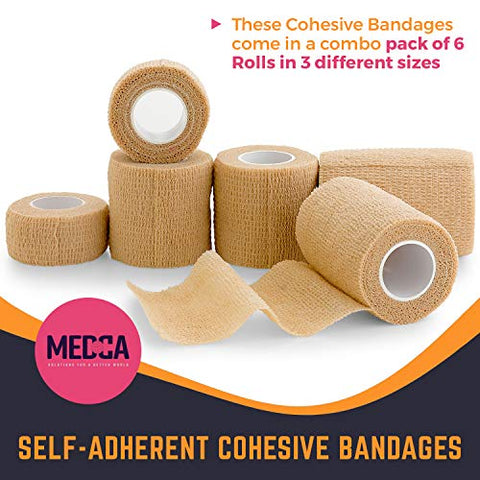 6 Pack, Self Adherent Cohesive Tape - 1
